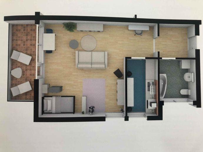 1,5-Zimmer-Wohnung im 2. OG in Grenzach-Wyhlen zu vermieten