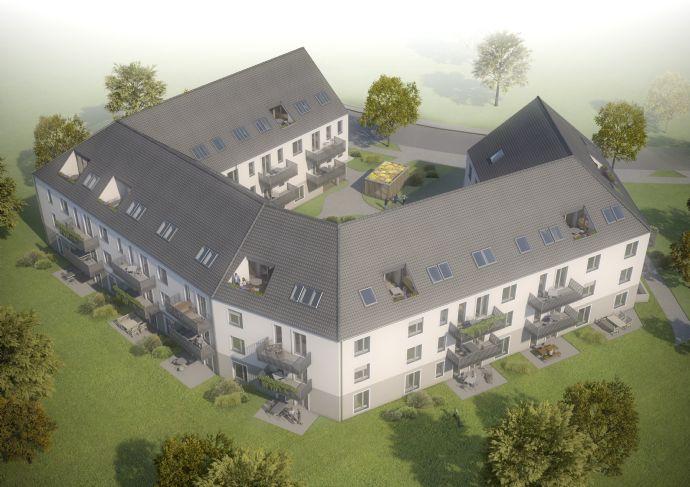 Sonnige 3-Zimmerwohnung mit Süd-Terrasse und Gartenanteil im charmanten Neubau. Grünes Umfeld, ansprechende Ausstattung, Top-Preis!