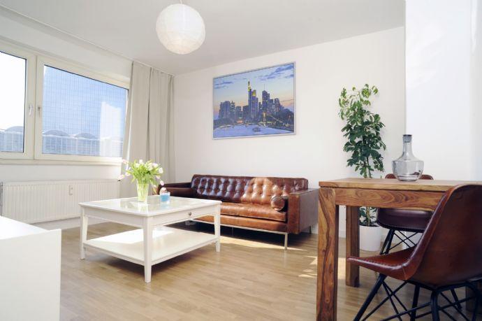 Nahe am Main-Ufer! Nahe an neuer EZB! durchgestylte / vollmöblierte 2-Zimmer-Wohnungen! Erstbezug na