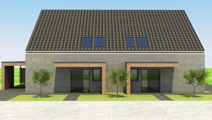 Neubau Doppelhaushälfte KfW 55 mit Grundstück und Carport