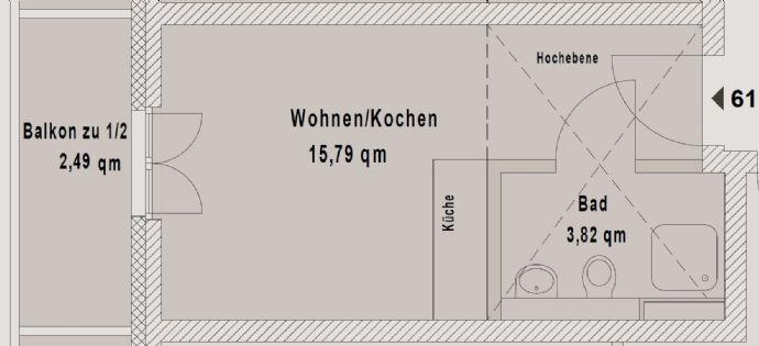 Studentisches Wohnen 1 Zimmer DG Neubau Erstbezug EBK Balkon Aufzug TG Stellplatz E-Ladestation