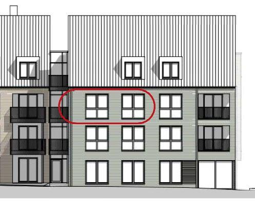 schöne 2-Zimmer-Wohnung mit Balkon / Erstbezug im Bredstedter Stadtdomizil