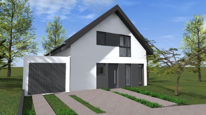 Neubau mit großem Grundstück, schöner Aussicht und Garage