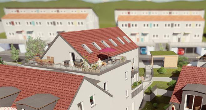 Dachterrasse mit Maisonetten-Wohnung zu vermieten