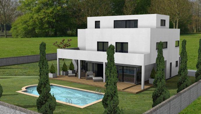 Schicke Villa im Bauhausstil auf Filetgrundstück