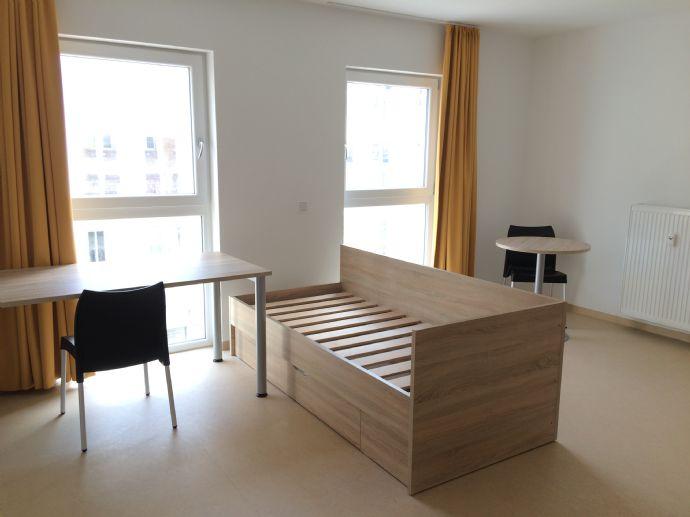 Ideal für Studenten&Azubis! Modernes Mikro-Apartment im Neubau! Zentral & teilmöbliert mit Balkon!