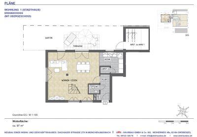 2,5- Zi.- Neubauwohnung mit Garten u. Dachterrasse im grünen Innenhof - Stadthaus