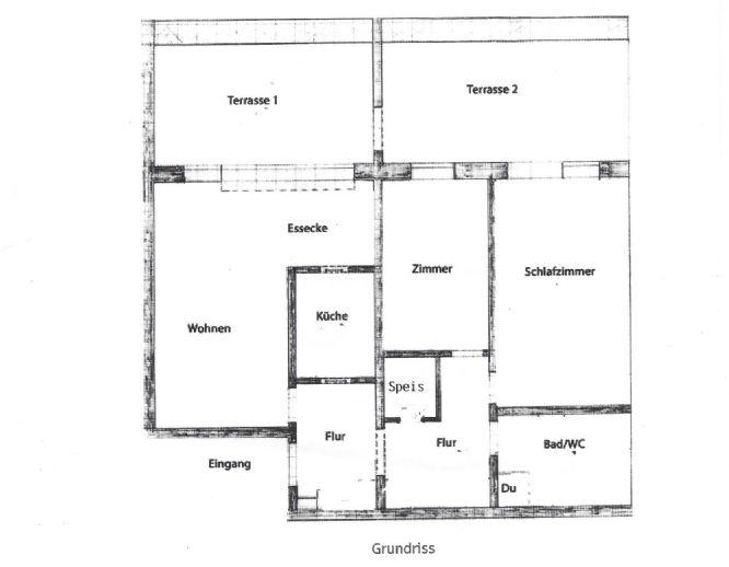 3-Zimmer-Wohnung mit 87 m² im Sinntal; mit Ausblick ins Grüne - Bilder vor Renovierung