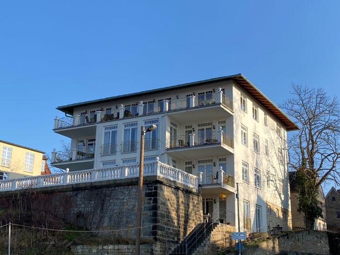 2 Zimmer-Wohnung mit Terrasse zur Elbe