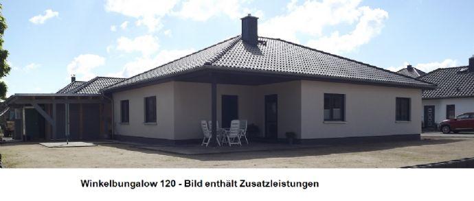 Wohnen in Oranienburg - Winkelbungalow 120 + ca.13 m² überdachter Terrasse