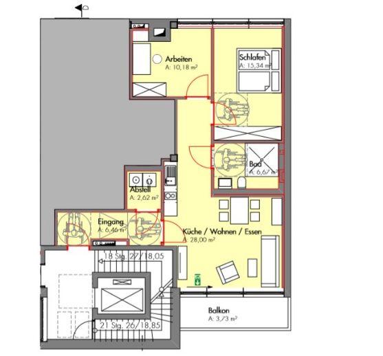 Rollstuhlgerechte 3-Zimmer-Wohnung zur Vermietung in Ahlen
