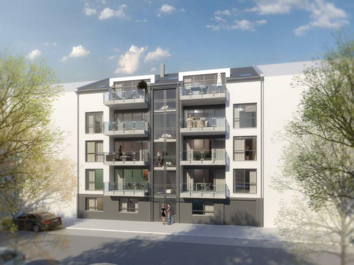Seniorengerecht auf dem Krefelder Westwall! Neubau mit allem Komfort! 2 Balkone, Aufzug, EInbauküche etc.