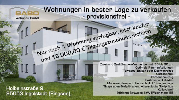 Wohnungen in bester Lage, 8 Einheiten, Aufzug, Tiefgarage, KfW-Effizienzhaus 55, provisionsfrei