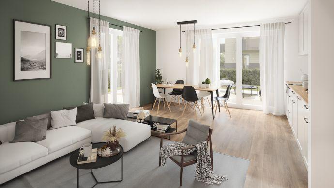Sonnige 3 5-Zimmer-Gartenwohnung mit Souterrainfläche
