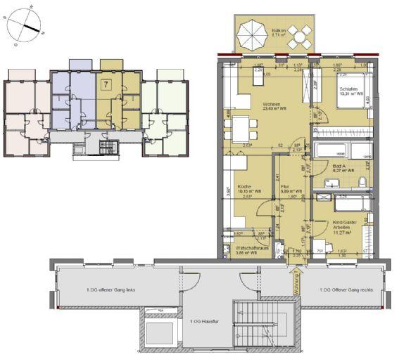 Behns10W7 - Erstbezug! - Moderne 3 Raum-Wohnung in Lohbrügge