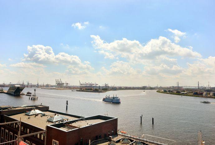 Moderner Grundriss gepaart mit Blick auf die Elbe