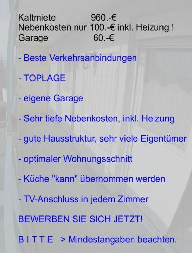 Frisch renovierte 3-Zimmer-WHG. mit Balkon, Gäste-WC + 2 Abstellkammern