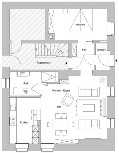 Barrierefrei Sanierte 2 5-Zimmer-Wohnung im