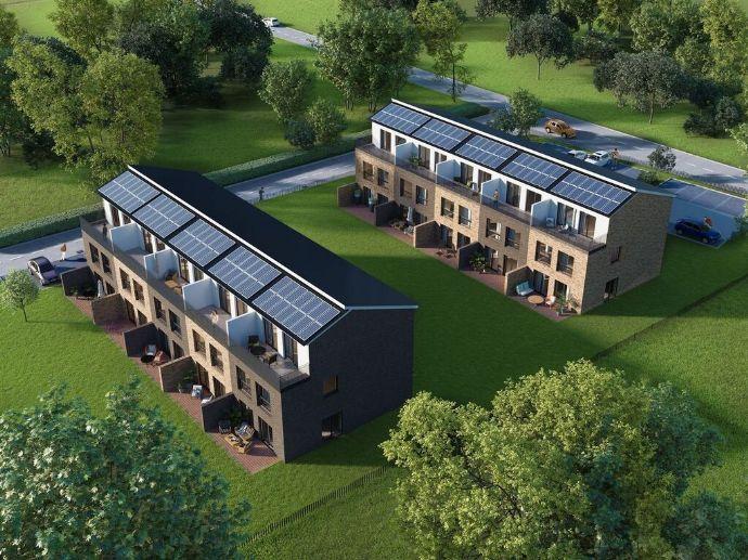 Modernes Reihenmittelhaus als Stadtvilla mit Dachterrasse in Asendorf bei Jesteburg