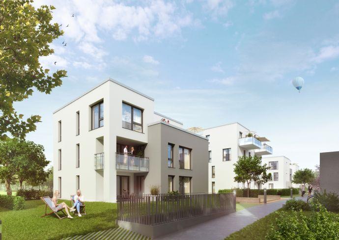 Auf der Sonnenseite von FRANKLIN: Dachterrasse in Süd-West-Lage mit nahezu 30 m² Grundfläche