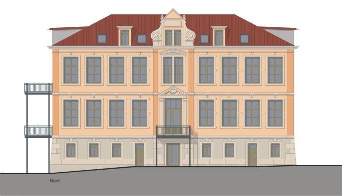 Traumhafte Dachgeschosswohnung mit Dachloggia im Mehrfamilienhaus bei Pirna