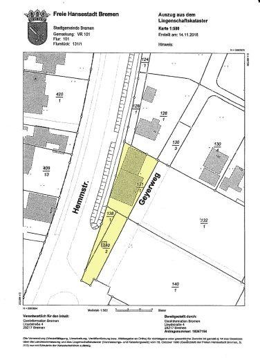 tolle Lage - Findorff: Gewerbegrundstück ca. 600 m²