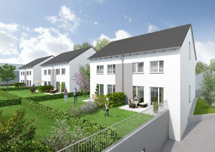 Einfamilienhäuser in Doppelhausform mit Dachstudios einschließlich zwei Tiefgaragenstellplätzen (linke Haushälften)