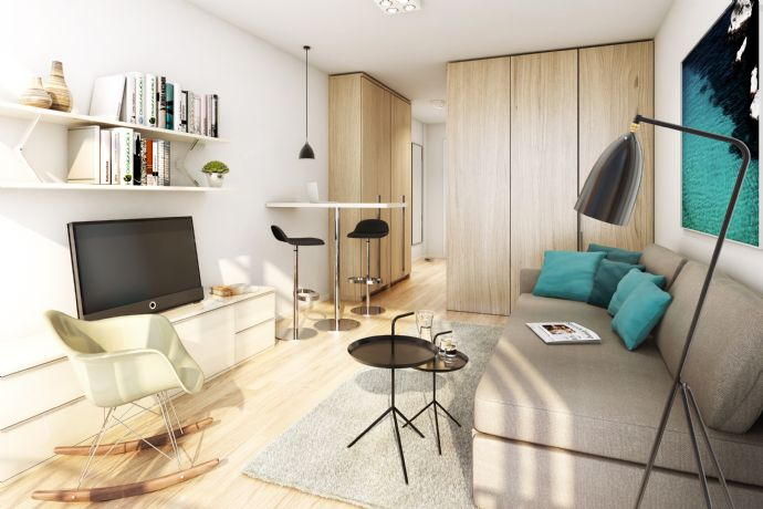 "exclusiv möbliertes Boarding-Apartment mit Balkon im ""studiosus5"" - Nähe City-Galerie"