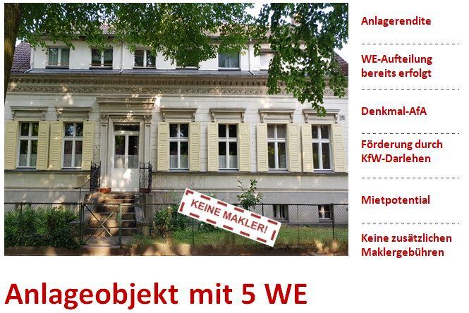 Historisches Baudenkmal in Berlin-Lichtenrade (Anlageobjekt mit 5 WE)