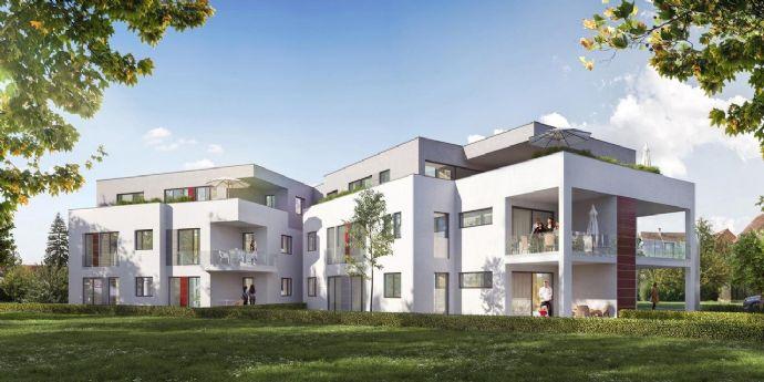 Südwest ausgerichtete EG-Wohnung mit sonniger Terrasse und Gartenanteil