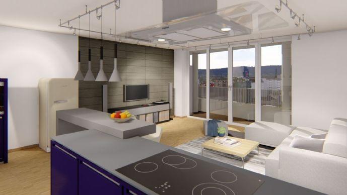 WESTENDTURM - Lichtdurchflutete 2-Zimmer-Wohnung im 9. OG mit fantastischem Panoramablick
