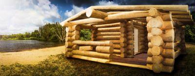 Naturstammhaus Einfamilienhaus Bungalow Sauna nach Ihren Wünschen