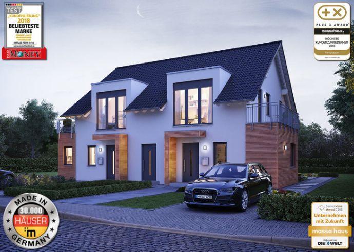 Bauen Sie ein Doppelhaus mit Bekanten oder Verwandten
