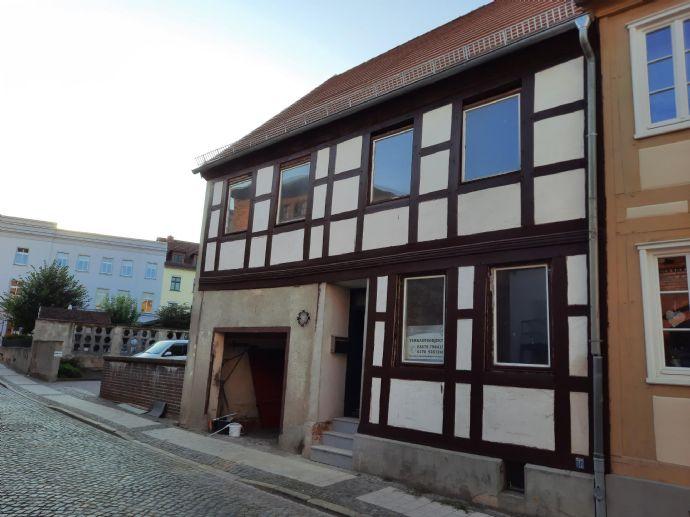 Entkerntes Fachwerkwohnhaus in Perlebergs Innenstadt