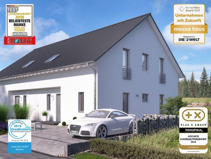 Bauen Sie eine Doppelhaushälfte inkl. Keller mit dem Ausbauhaus Marktführer