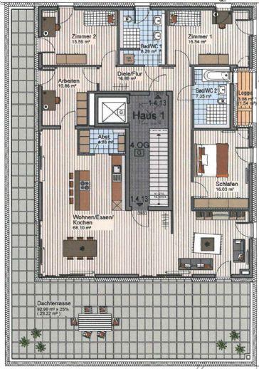 5 Zimmer Wohnung in Ulm-Böfingen zu vermieten