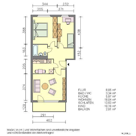 Drei-Raum-Wohnung in Waren/West