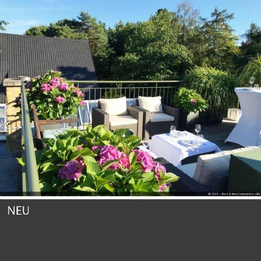 Dahlem unweit Messelpark: hochwertig ausgestattete Dachgeschosswohnung mit großer Aufdachterrasse