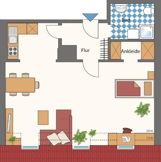 Großzügige 1-Zimmer-Wohnung in Erlangen Innenstadt
