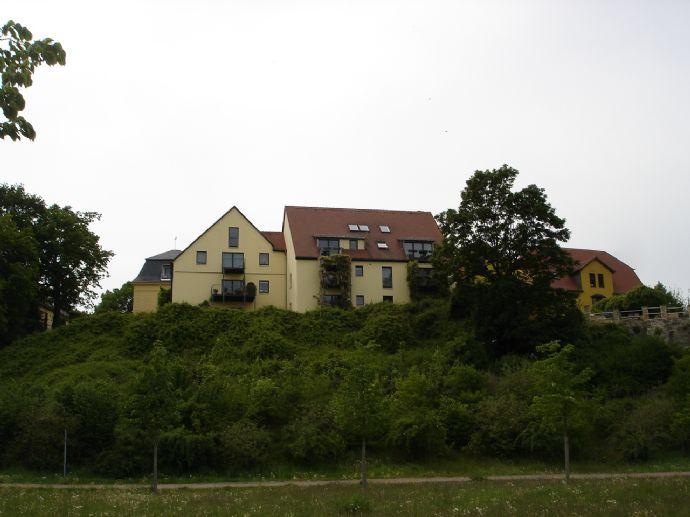 Traumhafter Blick ins Saaletal am Schloß zu Merseburg, Ruhiglage auf höchstem Niveau