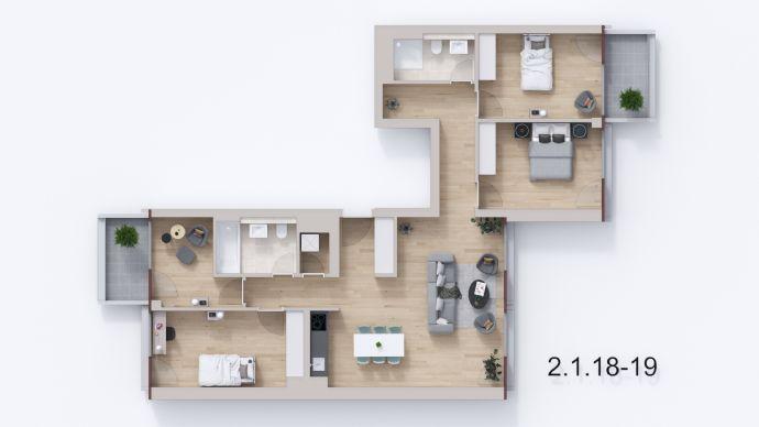 *Familienleben im beliebten Florakiez*: 5-Zimmerwohnung mit 2 Balkonen: NEUE FLORAHÖFE