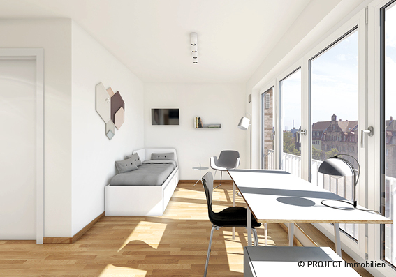 Erstbezug: exklusives 1-Zimmer-City-Appartement in Nürnberg Mitte/Eberhardshof