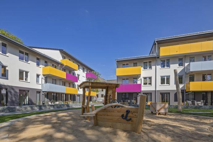 Herrliche 3-Zimmer-Wohlfühlwohnung mit Südterrasse und Garten! Sonnig, hell, modern, zentral! Neubau, Erstbezug.