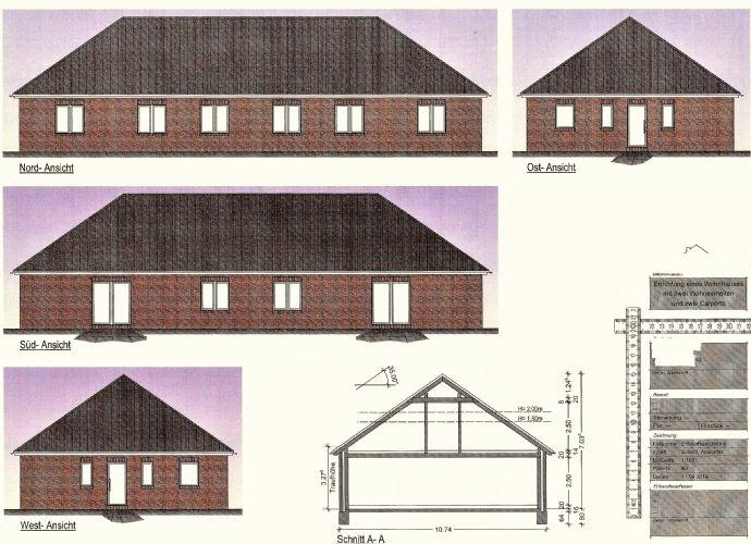 Neubau Doppelbungalowhälfte im Neubaugebiet in Warsingsfehn