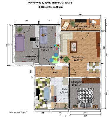 hübsche, helle 4-Raum-Wohnung mit Wintergarten in ruhiger Umgebung