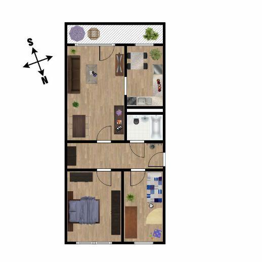 Frisch renoviert - 3-Zimmer-Wohnung im Thalheimer Stadtbadgebiet