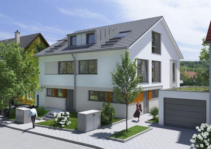 Neubau, 1 Einfamilienhaushälfte in Top Lage, ruhig mit großem Garten, Keller und Garage, mit unverbauten Fernsicht, 2 min bis S-Bahn
