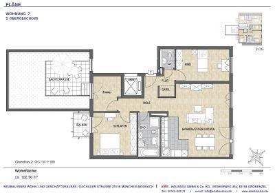 NEUBAU MIT DACHTERRASSE +++ 3,5-Zi-Wohnung