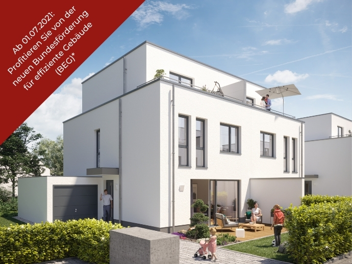 Hochwertig ausgestattetes Doppelhaus mit Dachterrasse