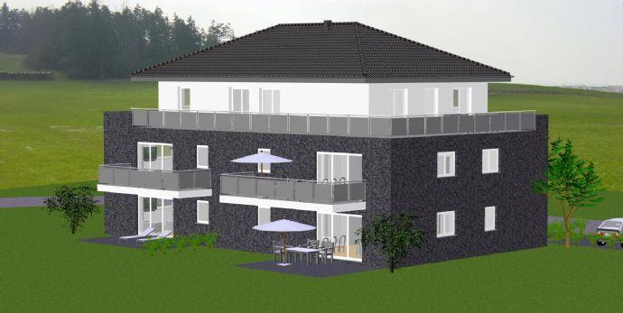NEUBAU/ERSTBEZUG: Schicke Obergeschosswohnung mit Balkon